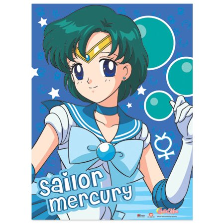 Fabric Poster - Sailor Moon - New Mercury Wall Scroll Art Licensed ge77714](Sailor Moon Boot Covers)