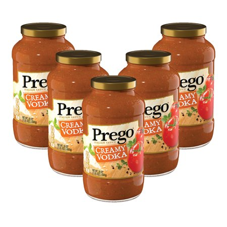 (5 Pack) Prego Pasta Sauce, Creamy Vodka, 24 oz. (Ketel One Vodka)
