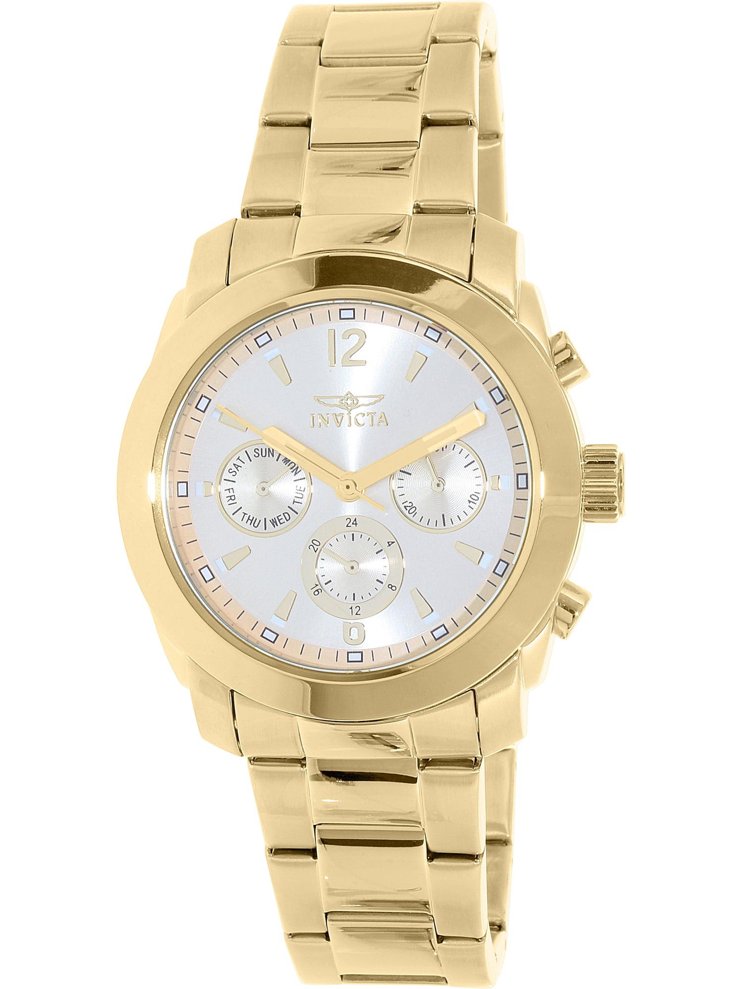 Women's 17901 Angel Quartz Multifunction Gold Dial Watch