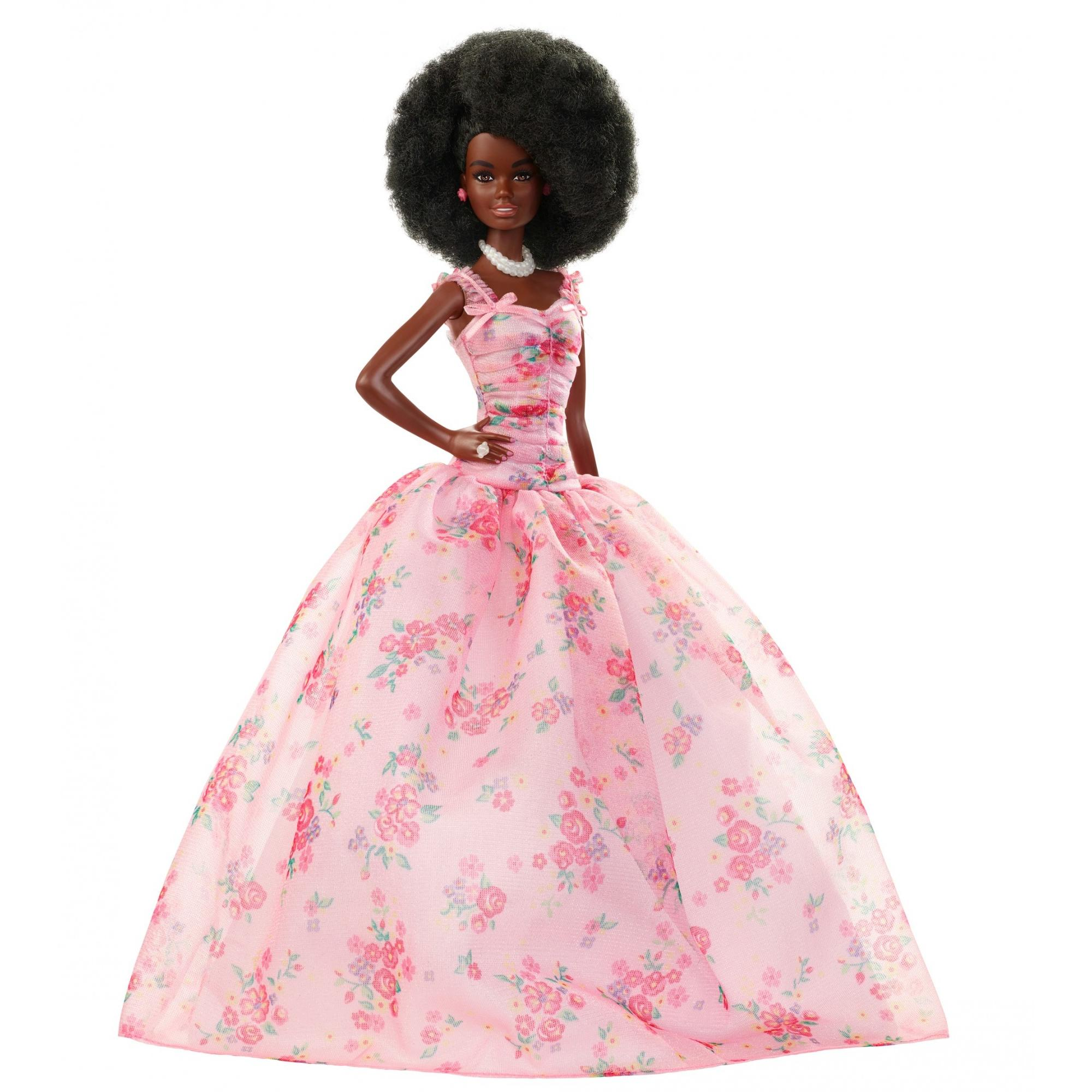 Barbie Birthday Wishes Doll with Pull Back Hairstyle & Pink Gown