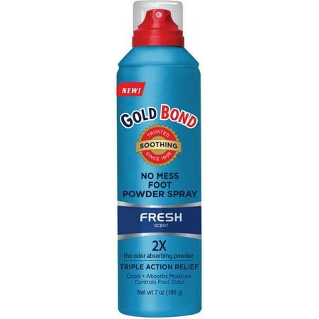 Gold Bond No Mess Foot Powder Spray  Fresh 7 Oz  Pack Of 2
