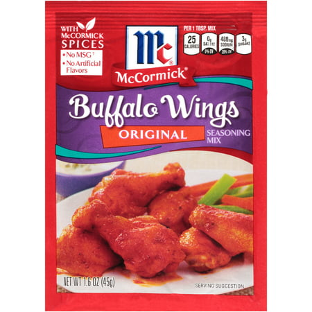 (4 Pack) McCormick Original Buffalo Wing Seasoning Mix, 1.6