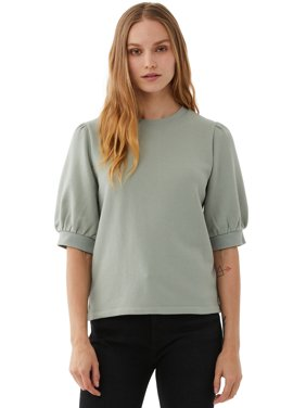 Free Assembly Womens Short Sleeve Puff Sleeve Top