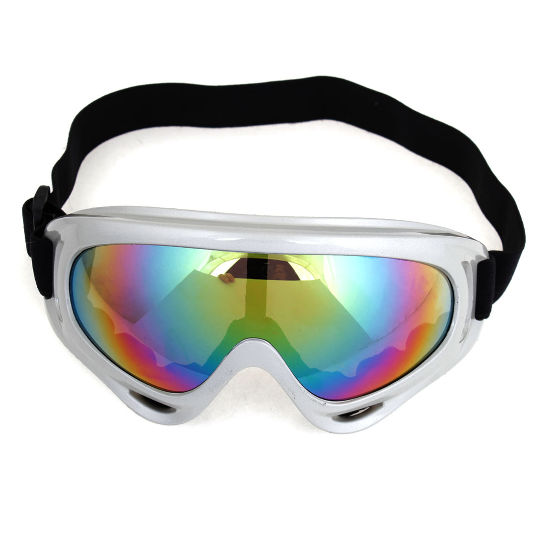 Men Women Colored Lens Adjustable Elastic Band Eyes Protector Ski Goggles by Unique-Bargains