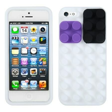 Insten Blocks Skin Case  White  For Apple Iphone Se 5