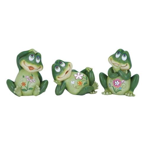 Woodland Imports Casual Frog Decor Figurine (Set of 3)