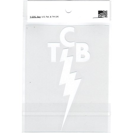 Elvis Presley TCB Logo Cut-Out Graphic Decal Sticker [White - 5