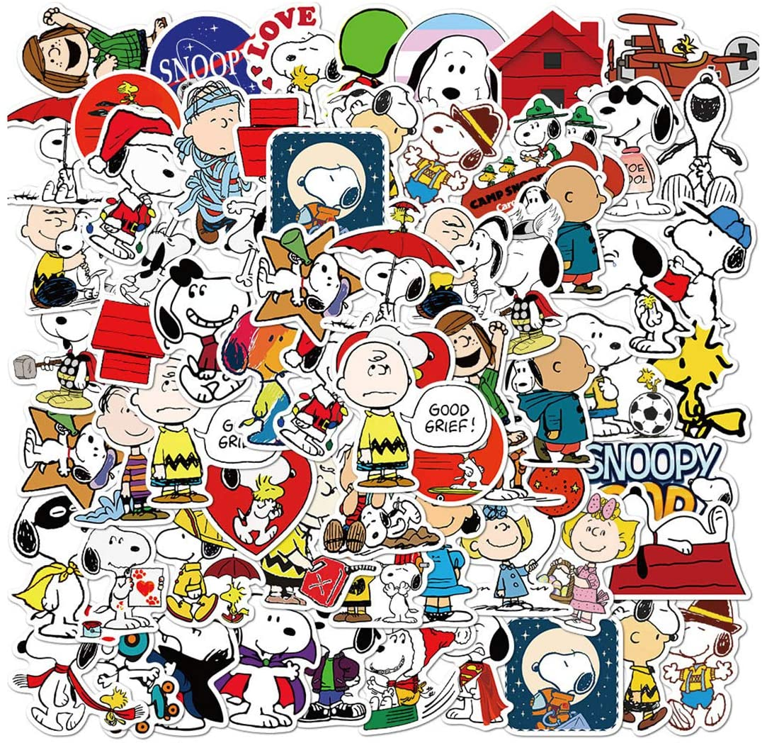 Magnet of Snoopy on Lap Top 4 X 4