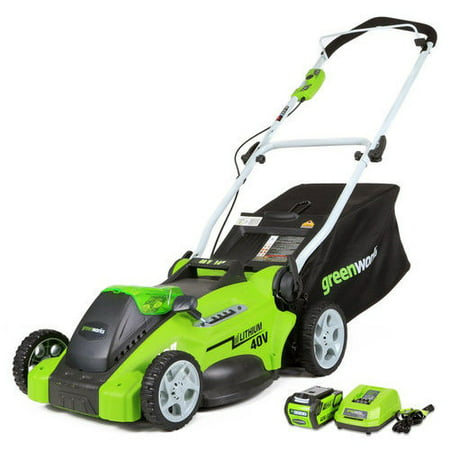 Greenworks 16-Inch 40V Cordless Lawn Mower, 4.0 AH Battery Included (Best Battery Powered Lawn Equipment)