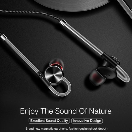 3.5mm In-ear Magnetic Adsorption Earphone Bass Stereo Noise Isolating Headphone With Mic for Smartphones Computers - image 1 de 10