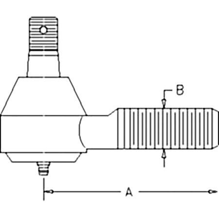 36200-62932 New RH Inner Tie Rod Made to fit Kubota