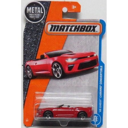2017 MBX Adventure City '16 Chevy Camaro Convertible 2/125, Red, 1:64 scaled die-cast car. By Matchbox](Adventure Time Car Accessories)