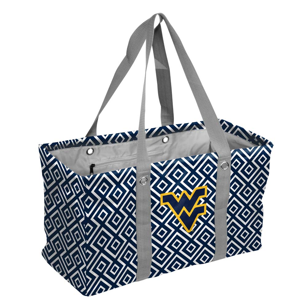 West Virginia Mountaineers NCAA Diamond Picnic Caddy Tote Bag by Logo 052081