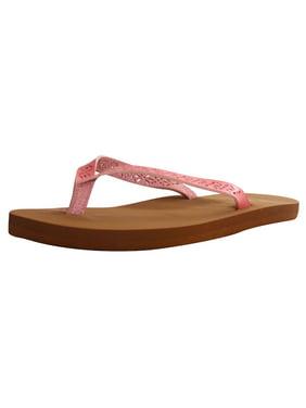 Women's Lightweight Boho Beach Design Comfort Flip Flop Sandals, 2427W_Pink, 7
