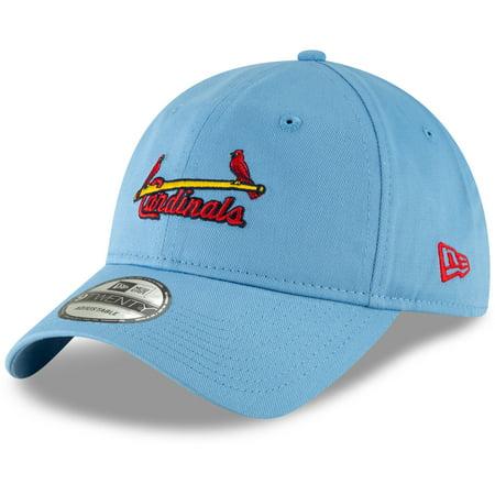 St. Louis Cardinals New Era Cooperstown Collection Core Classic Replica 9TWENTY Adjustable Hat - Light Blue - OSFA