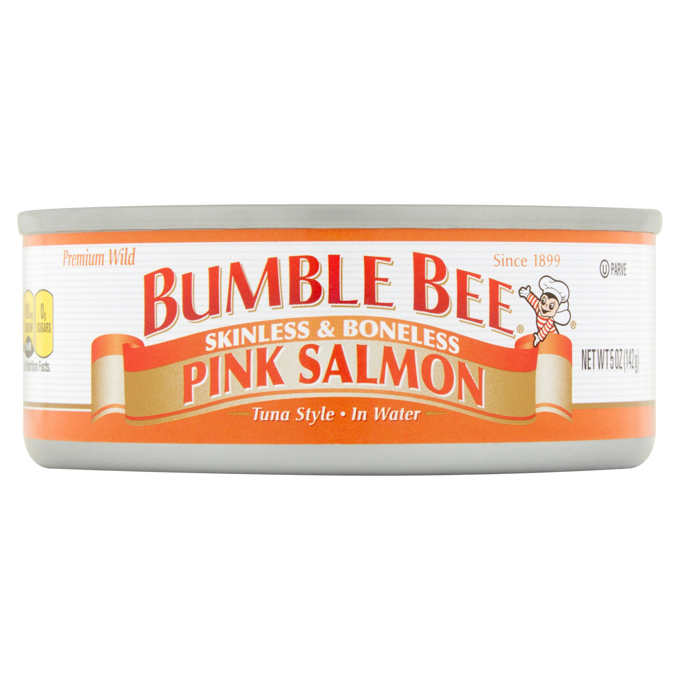 Bumble Bee Skinless and Boneless Wild Pink Salmon, 5oz can by Bumble Bee Foods