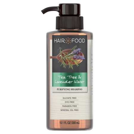 Hair Food Tea Tree & Lavender Sulfate Free Shampoo, 10.1 fl oz, Dye Free (Aromatherapeutic Hair Shampoo)