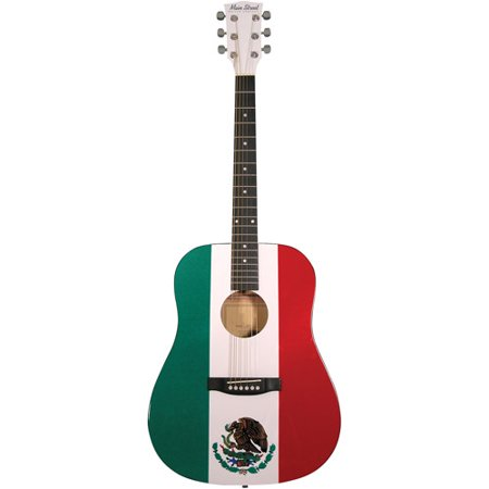 main street guitars mamf 40 5 dreadnought acoustic guitar spruce with mexican flag design. Black Bedroom Furniture Sets. Home Design Ideas