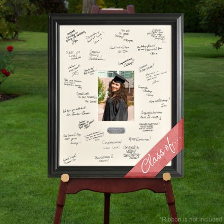 Personalized Gift - Celebrations Graduation Signature Guest Book Picture Photo/Photograph Frame - With Engraved Brushed Silver Plate, Dimensions Of.., By Creative Structures - Graduation Gifts For Guests