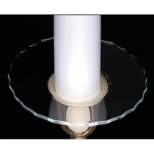 Biedermann and Sons Glass Bobeche Candle Holder Cut Rim (Set of 4)