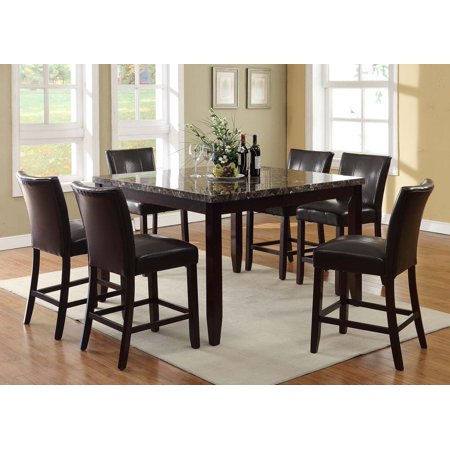 counter high dining room sets   Samantha 7pc Counter High Solid Wood Dining set - Walmart.com