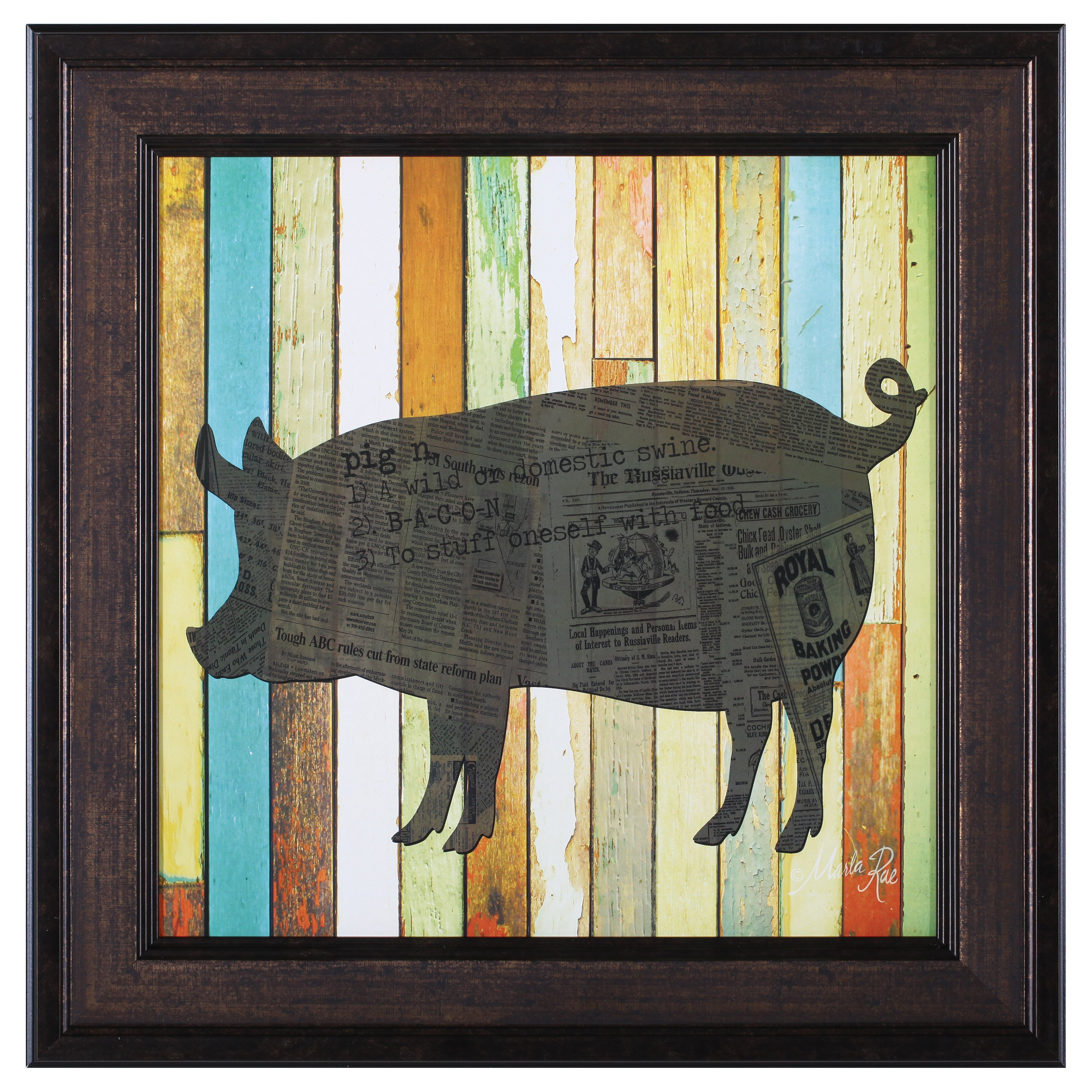 Art Effects Pig Framed Wall Artwork by Art Effects