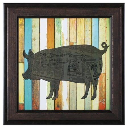 Art Effects Pig Framed Wall Art for $<!---->