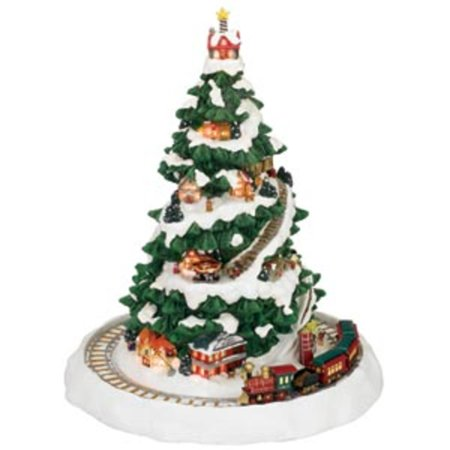 mr christmas animated and musical christmas eve express train decoration 36621