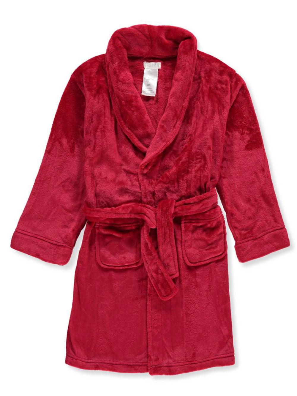 4Kidz Girls Sequin Patch Plush Fleece Dressing Gown Robe