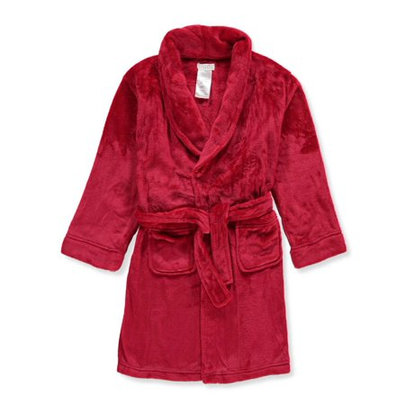 Komar Kids Girls' Plush Robe - red, 14-16 (Childrens Robes)