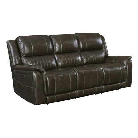 Beaumont Lane Reclining Sofa With Power Headrest Walmart Com