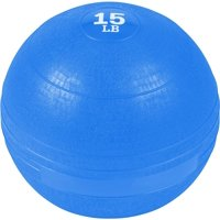 Exercise Slam Medicine Ball (Blue, 15 Lbs.), Sand filled, no bounce slam ball By Trademark Innovations