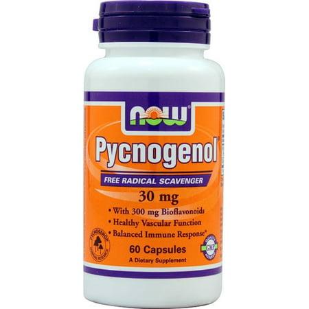 NOW Foods Vegetarian Pycnogenol Free Radical Scavenger, 30mg, 60