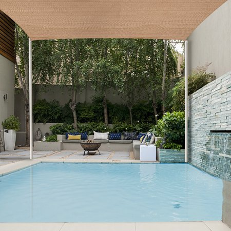 Jaxpety Sun Shade Sail Permeable Square Outdoor Patio Deck Pool Canopy 16'x 16', Desert Sand ()
