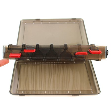- Outdoor Fishing Gear Baits Box Storage Plastic Double-sided 14 grid bait box