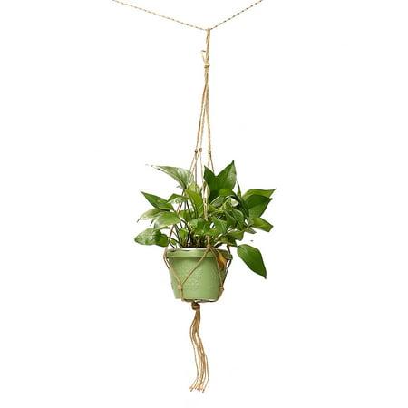 "35"" To 43.3""Macrame Hangers Braided Plant Hanger Hanging Planter Basket Jute Rope Pot Holder Home Garden"