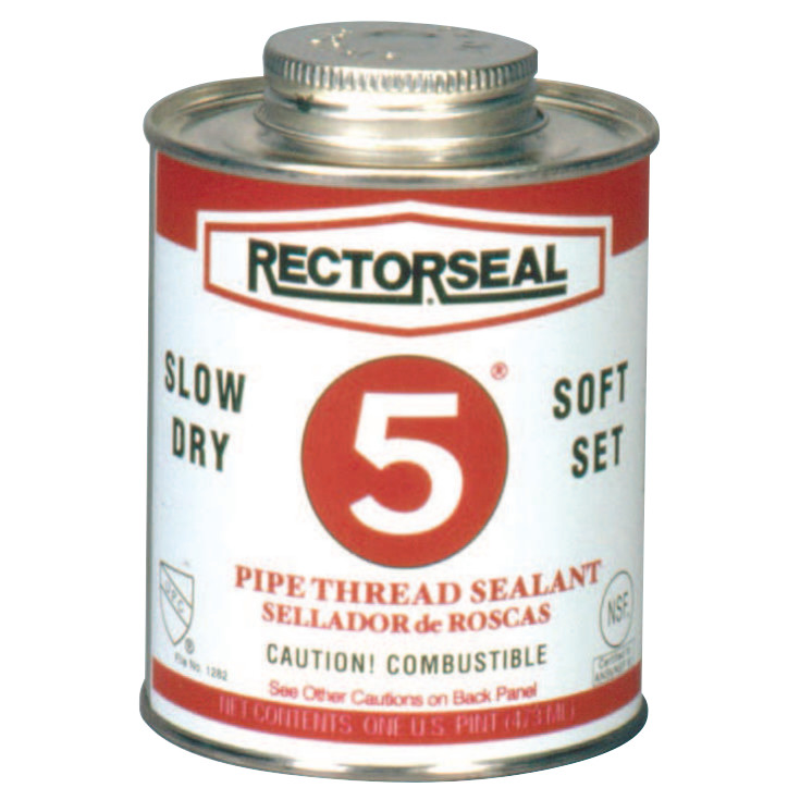 Rectorseal No. 5 Pipe Thread Sealants, 1 Quart Can, Yellow