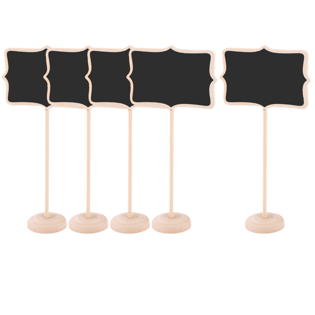 Family Wooden DIY Handcraft Memo Removable Standing Chalkboard Blackboard 5pcs