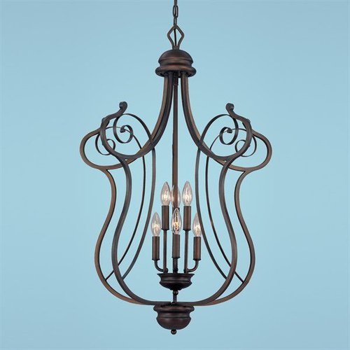 Millennium Lighting 1056-RBZ 6 Light Chateau Foyer Large Pendant Rubbed Bronze