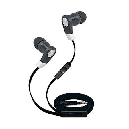 Super High Clarity 3.5mm Stereo Earbuds/ Headphone for BlackBerry Aurora,Q10, Z10, DTEK50, Priv, Leap, Classic, Z30 (Aristo), 9720, Q5 (Black) - w/ Mic & Volume Control + MND