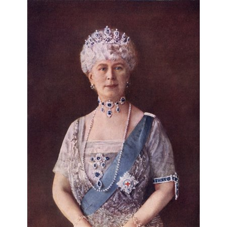 Image of Mary Of Teck Victoria Mary Augusta Louise Olga Pauline Claudine Agnes 1867 To 1953 Queen Of The United Kingdom And Empress Of India As The Consort Of King-Emperor George V From The Book Our Queen Moth