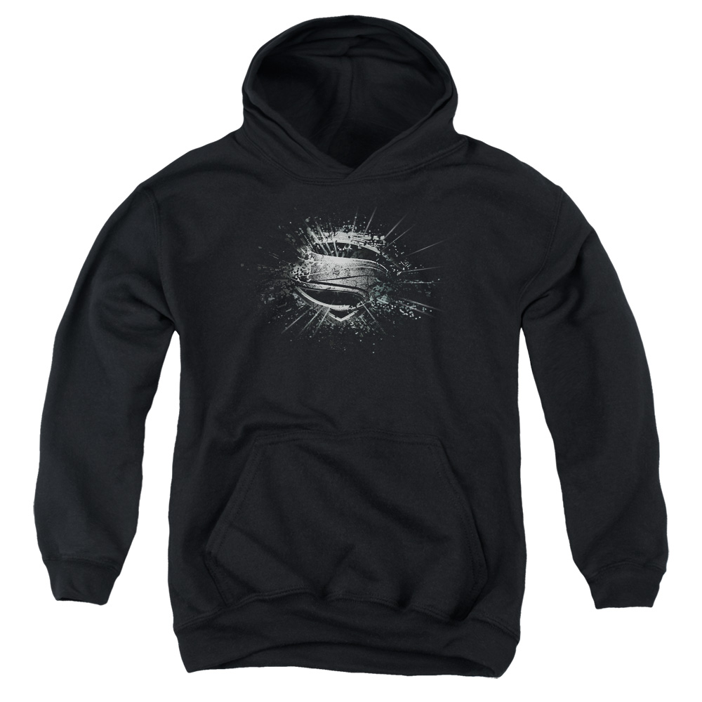 Man of Steel Superman Mos Shield Burst Big Boys Pullover Hoodie