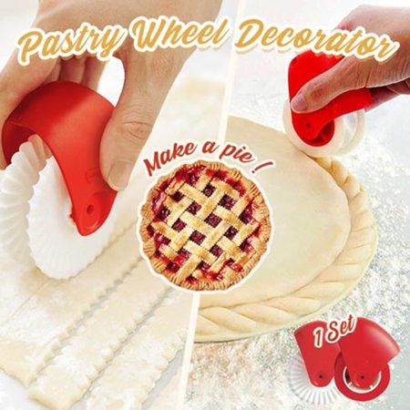 Lattice Cutter Press - Tuscom Pizza Pastry Lattice Cutter Pastry Pie Decoration Cutter Plastic Wheel Roller