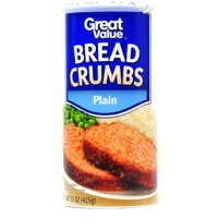(5 Pack) Great Value Plain Bread Crumbs, 15 oz