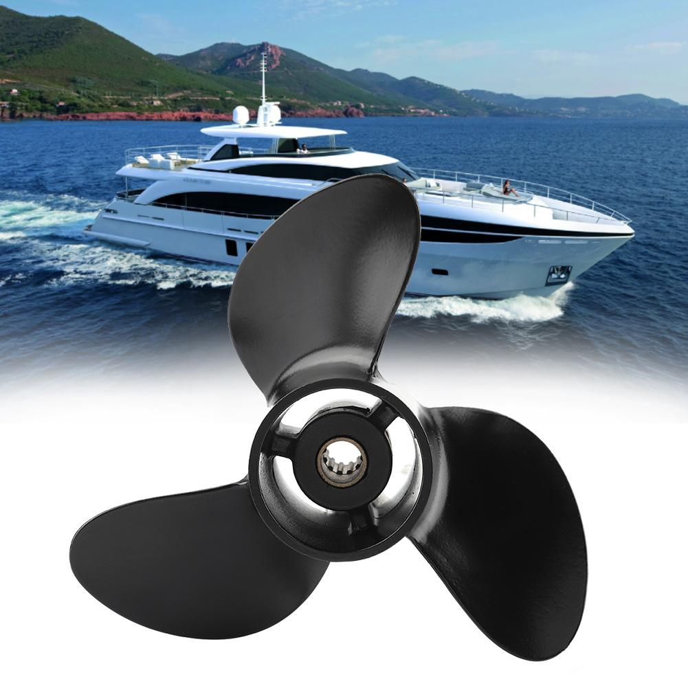 Marine Boats Black Outboard Propeller Replacements For Tohatsu Mercury Sports