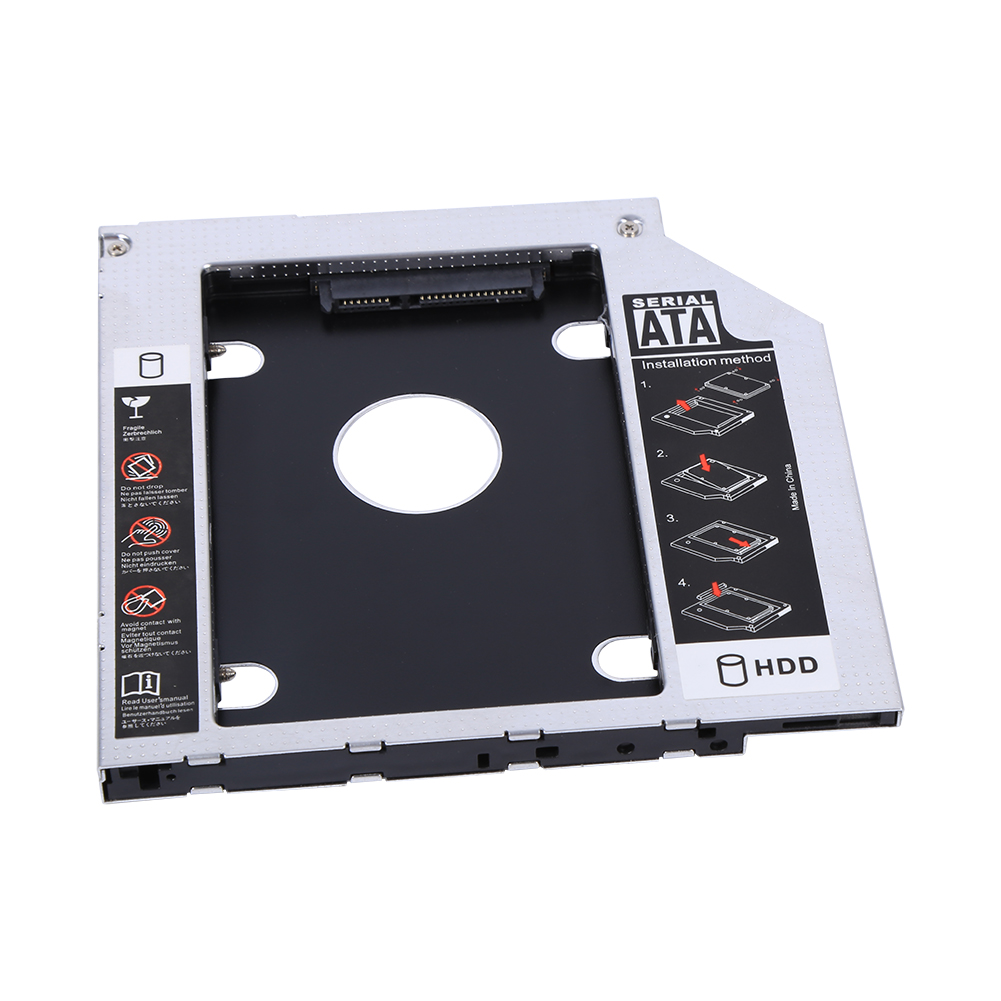 9.5mm Aluminum SATA HDD SSD Enclosure Hard Disk Drive Bay Caddy Optical DVD Adapter for Laptop,HDD Caddy,HDD SSD Adapter