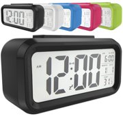 Snooze Electronic LED Digital Alarm Clock Backlight Time Calendar Thermometer Temperature