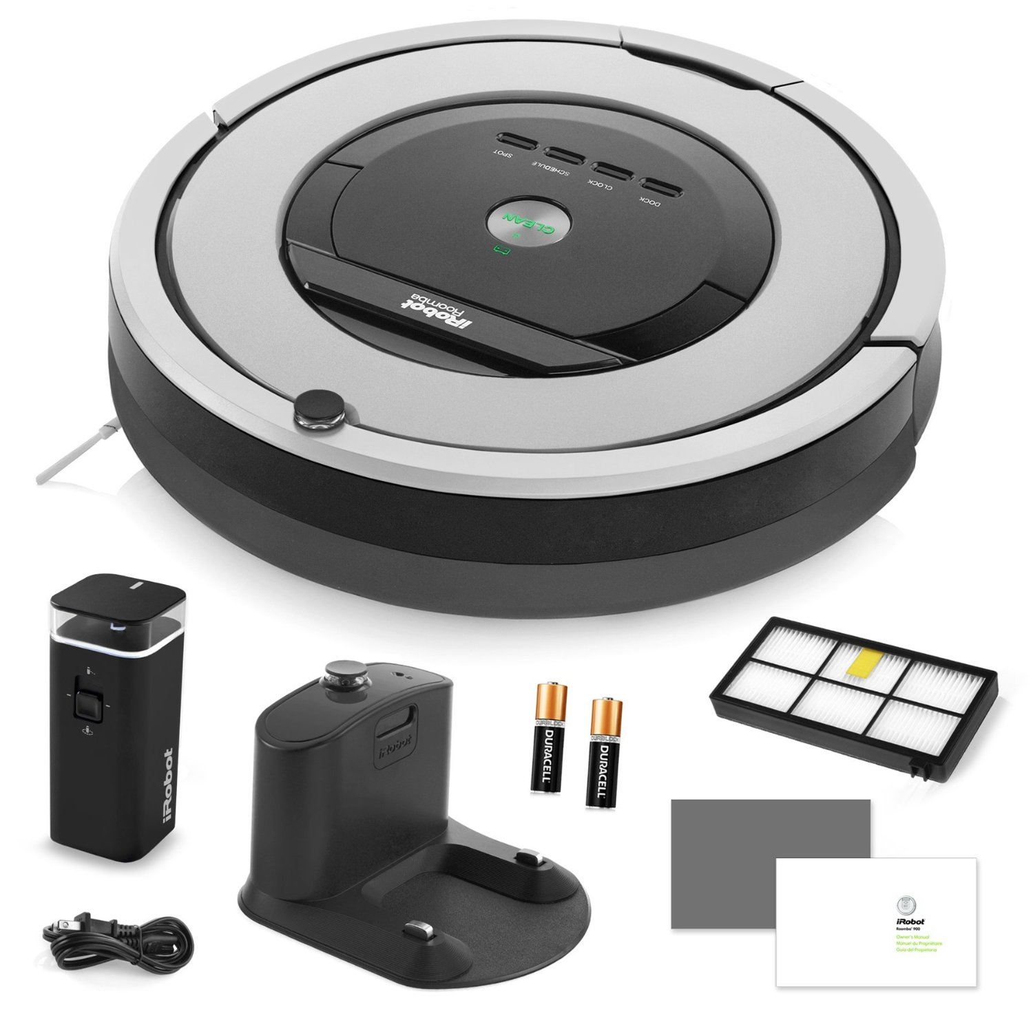iRobot Roomba 860 Vacuum Cleaning Robot + Dual Mode Virtual Wall Barriers (With Batteries) + Extra HEPA Filter + More!