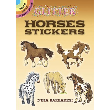 Glitter Horses Stickers [With Stickers] (Paperback)