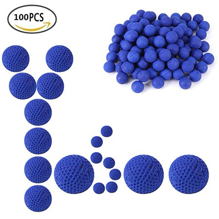 Round Soft Elastic Balls,100pcs Rounds Refill Compatible Replace Bullet Balls Pack For Kids Play Survival Game(blue) (Bullet Rounds Blue)